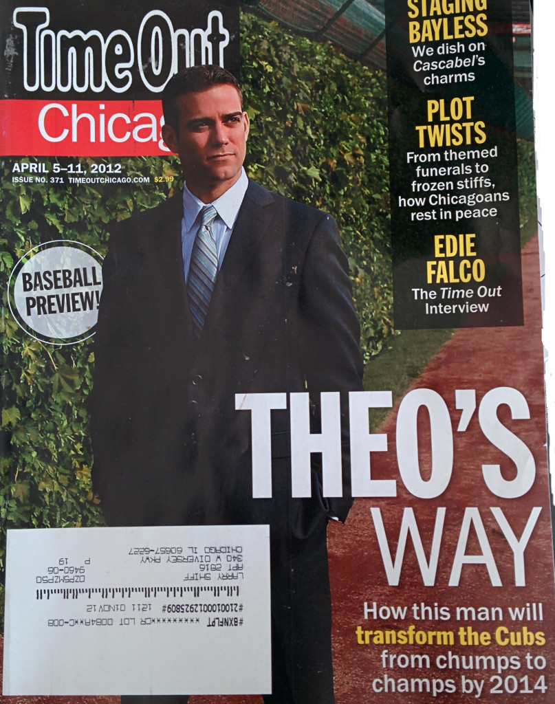 Theo Epstein Cover Story in Time Out Chicago